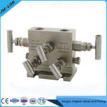 Best-selling SS high Pressure valve with gauge and five-valve manifolds in china