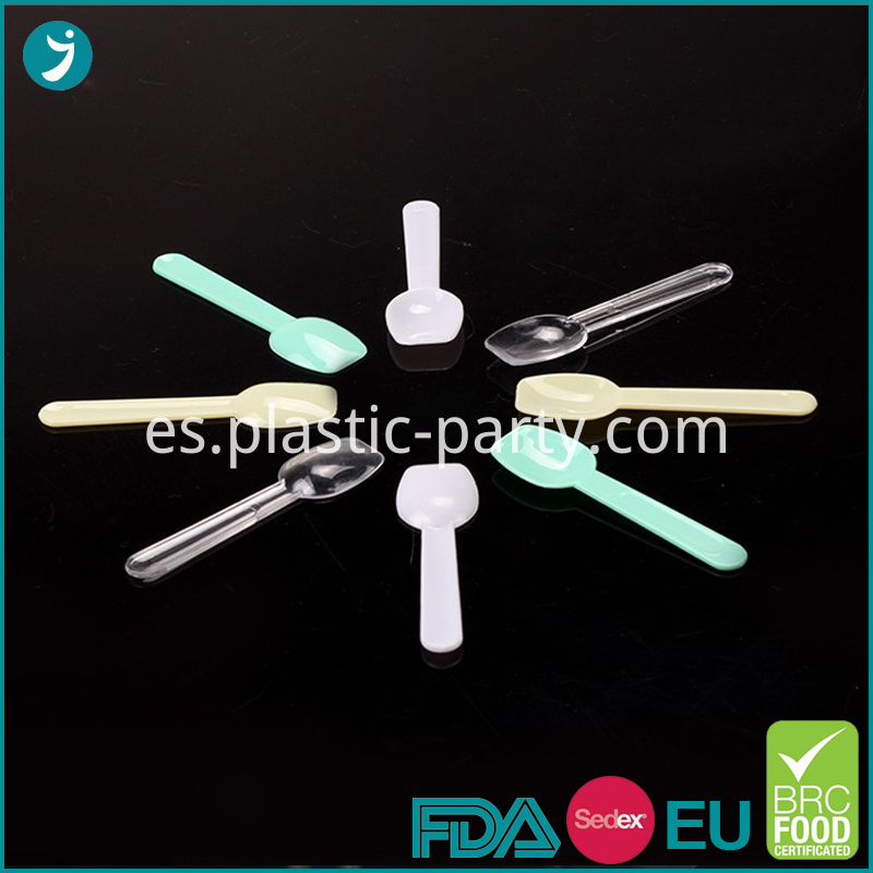 Disposable Plastic Color Ice Cream Spoon