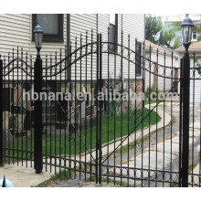 Double Door Fence Gate with Spear Top