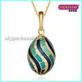 Nuevo colgante de collar de huevo de Fabergé de joyería de esmalte de aleación mayorista personalizado