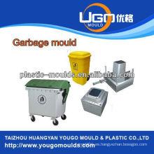 Molde de plástico de basura de plástico al aire libre molde de inyección, molde de lata de basura fabricante