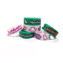 Custom 1 Inch Cute Cartoon Anime Rubber Bracelets Eco-friendly