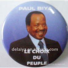 Celebrity portraits tin badge