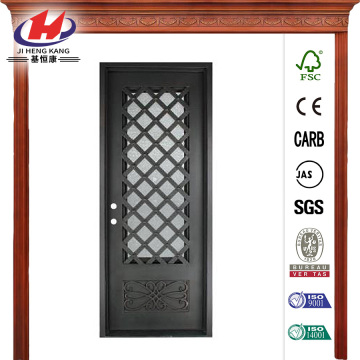3/4 Lite Painted Oil Rubbed Bronze Decorative Front Door
