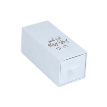 Luxury drawer gift box with hot stamping logo
