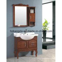 Cabinet de salle de bains en bois massif / vanité de salle de bain en bois massif (KD-450)