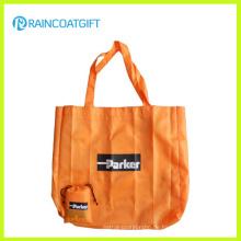 Wiederverwendbare 210t Polyester-faltende Handtasche für Förderung