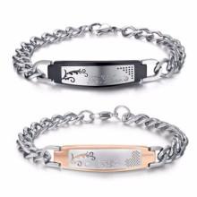 Personalized metal plate write on kids id identification bracelets
