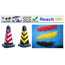 Material de cono de seguridad de tráfico de PVC