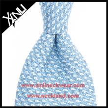 Wholesale Mens 100% Silk Printed Custom Whale Funny Neck Ties