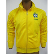 Thailand quality Brazil soccer training coat for winter
