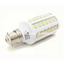 B22 lâmpada LED 10W milho luz com 60 X 5050 SMD chips em branco quente