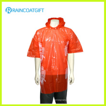 Cheap Adult Clear Disposable PE Rain Poncho Rpe-147b