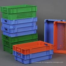 Contenedor retráctil retráctil verde Pantone para transporte de vegetales / contenedor de inserción de plástico