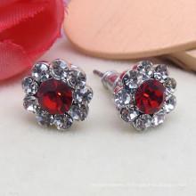 Boucles d'oreilles en argent rubis de vente d'usine de la Chine