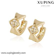 91945 artificielle jhumke conception créative plaqué or bijoux diamant cerceau boucle d'oreille