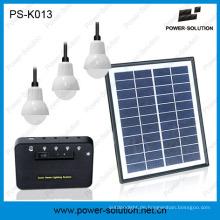 Mini Solar Kit mit Handy-Ladegerät leuchten 3 Zimmer werden 9 Stunden arbeiten