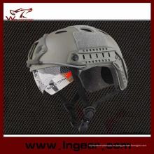 Casco antibalas táctico Pj combate militar casco con Visor claro