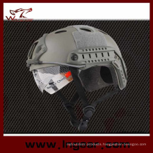 Tactical Pj Bulletproof Helmet Combat Military Helmet with Clear Visor