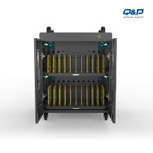 Laptop charging cart for 20 laptops in classroom