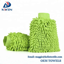 China-Lieferant Chenille Wash Mitt / Autowaschhandschuhe / Microfiber-Reinigungs-Handschuhe