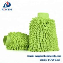 Proveedor de China Chenille Wash mitt / guantes de lavado de coches / guantes de limpieza de microfibra
