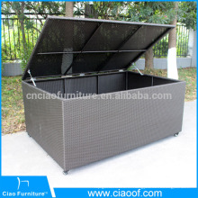Huge volume outdoor rattan storage cushion box