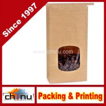 Олово галстук Крафт мешок пекарня мешок с окном (220118)