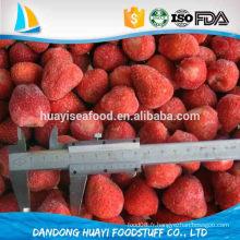 Vente massive en gros de fraises congelées