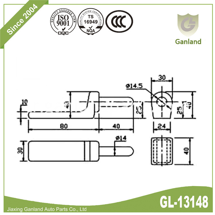 Dropside gudgeon hinge gl-13148