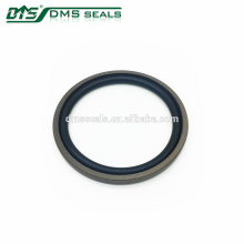 40% bronze filled double acting seal and NBR / FKM O ring hydraulic seal DPT