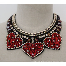 Damen Bead Crystal Fashion Chunky Bib Kostüm Halsband Halskette Kragen (JE0014)