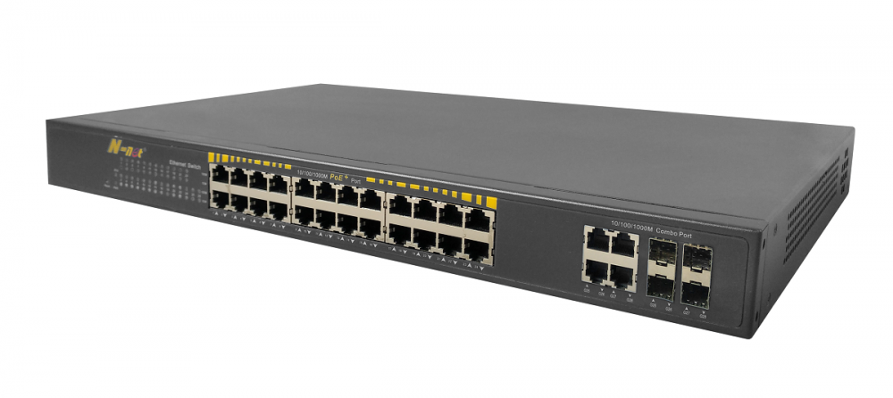 10 / 100M POE + Switch 24 Ports Un Managed