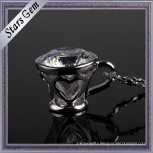 Fashionable Cup Shape Sterling Silver Jewelry Pendant for Deacoration