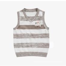 100% Baumwolle Ärmellos gestrickt Baby Jungen Pullover Weste Outfits, Strickmuster Weste für Baby