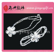 Shangdian Handcrafted China Acessórios de Moda Artesanato Personalizado Conjunto De Jóias De Noiva