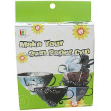 artisanat de bricolage votre propre artisanat de tasse de thé en papier