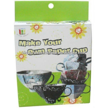 kids DIY craft Your own paper tea cup craft