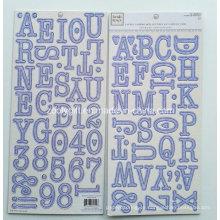 Alpha Chipboard Letters Etiqueta En Cartón Gris