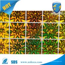 Autocollant autocollant de haute qualité, Autocollants adhésifs autocollants holographiques