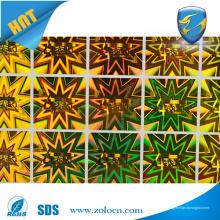 Etiqueta de auto-adesiva de alta qualidade, adesivos auto-adesivos de adesivos holográficos