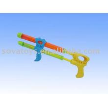 Super pistolet à eau à double tube, pistolet à eau en plastique, pistolet à eau pulvérulente-914063500