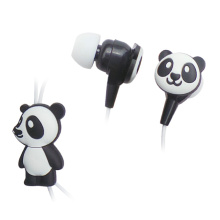 Factory Children Adorable Cartoon Panda Retractable Earphone