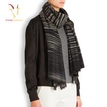Winter Dicke 100 Cashmere Strip Knitting Schal Männer
