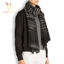 Winter Thick 100 Cashmere Strip Knitting Scarf Hombres