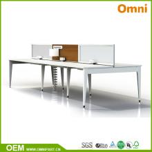2017 Nueva mesa de muebles de oficina de tres personas