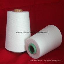 Fils mélangés polyester / coton 32s pour le tissage