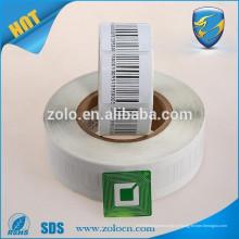 Etiqueta de código de barras, design personalizado de impressão de adesivos de vinil, etiquetas autoadesivas de etiquetas de papel