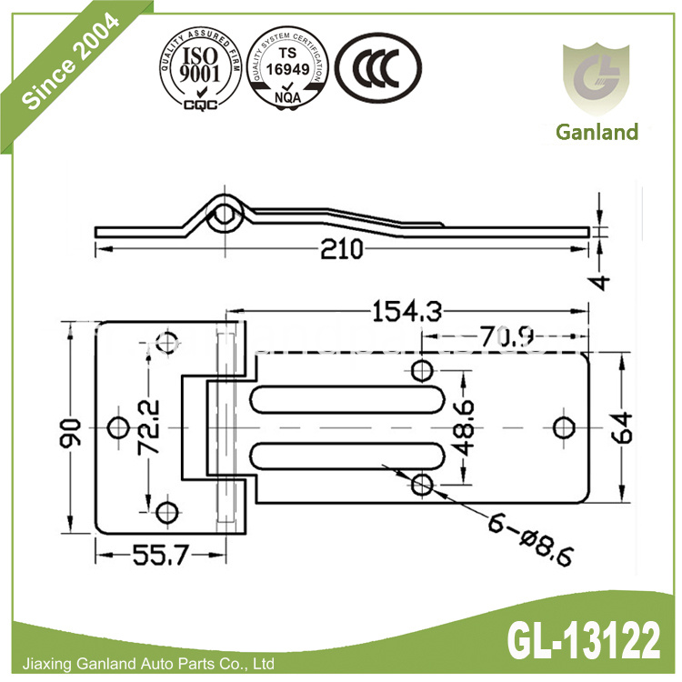 Non-removable Pin Hinge gl-13122