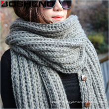 Women′s Acrylic Knitted Warm Large Fashion Scarf